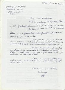 lettre ETUDIANTS