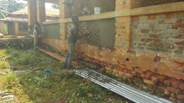 crépissage des murs